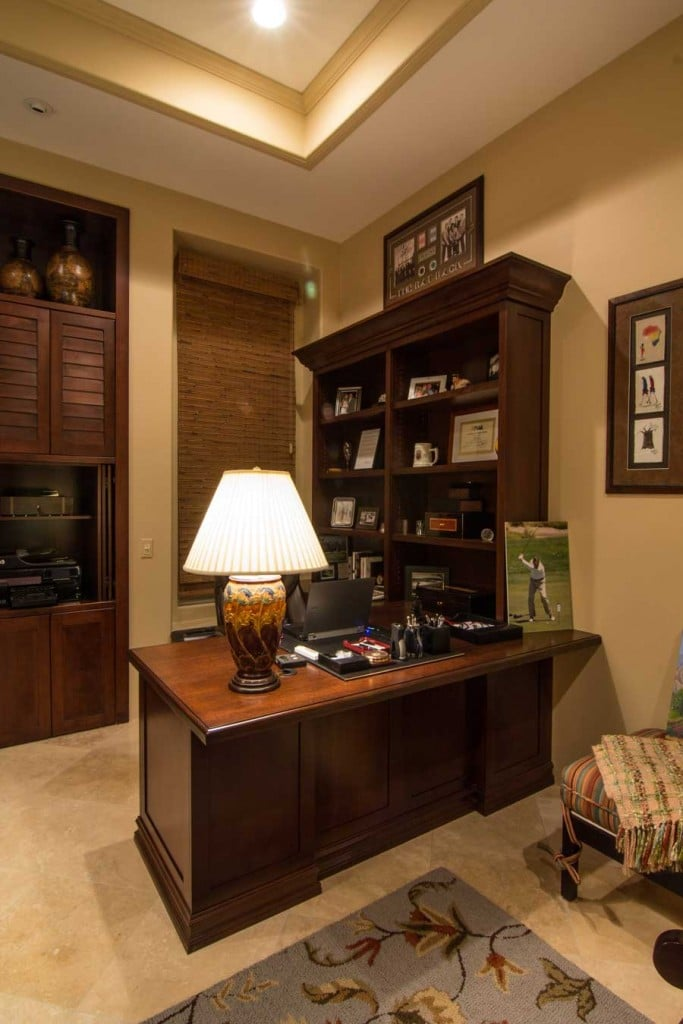ALDER WOOD OFFICE BUILT-INS ~ ESPRESSO STAIN